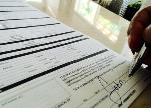 Signing a Bail Bond Contract